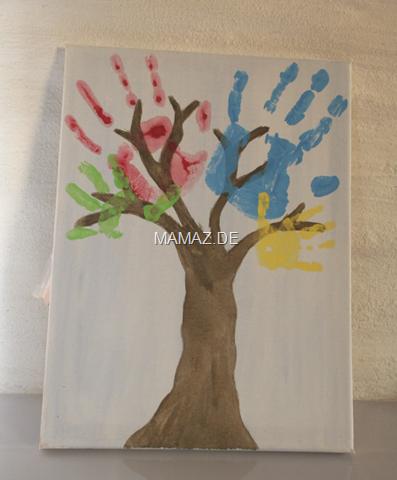 Familienbaum Aus Handabdrucken Anleitung Mamaz