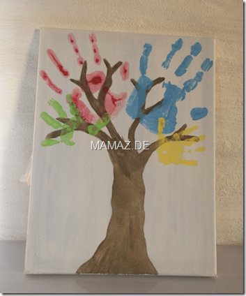 Familienbaum-Handabdruecke