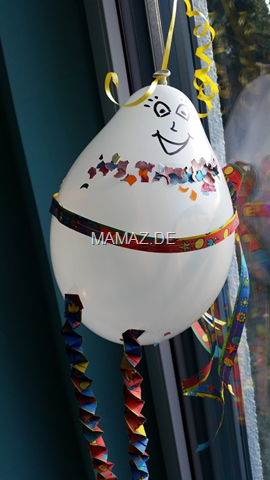 Fasching Ballonfiguren Basteln Mit Kindern Mamaz
