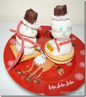 Schneemann aus Keksen