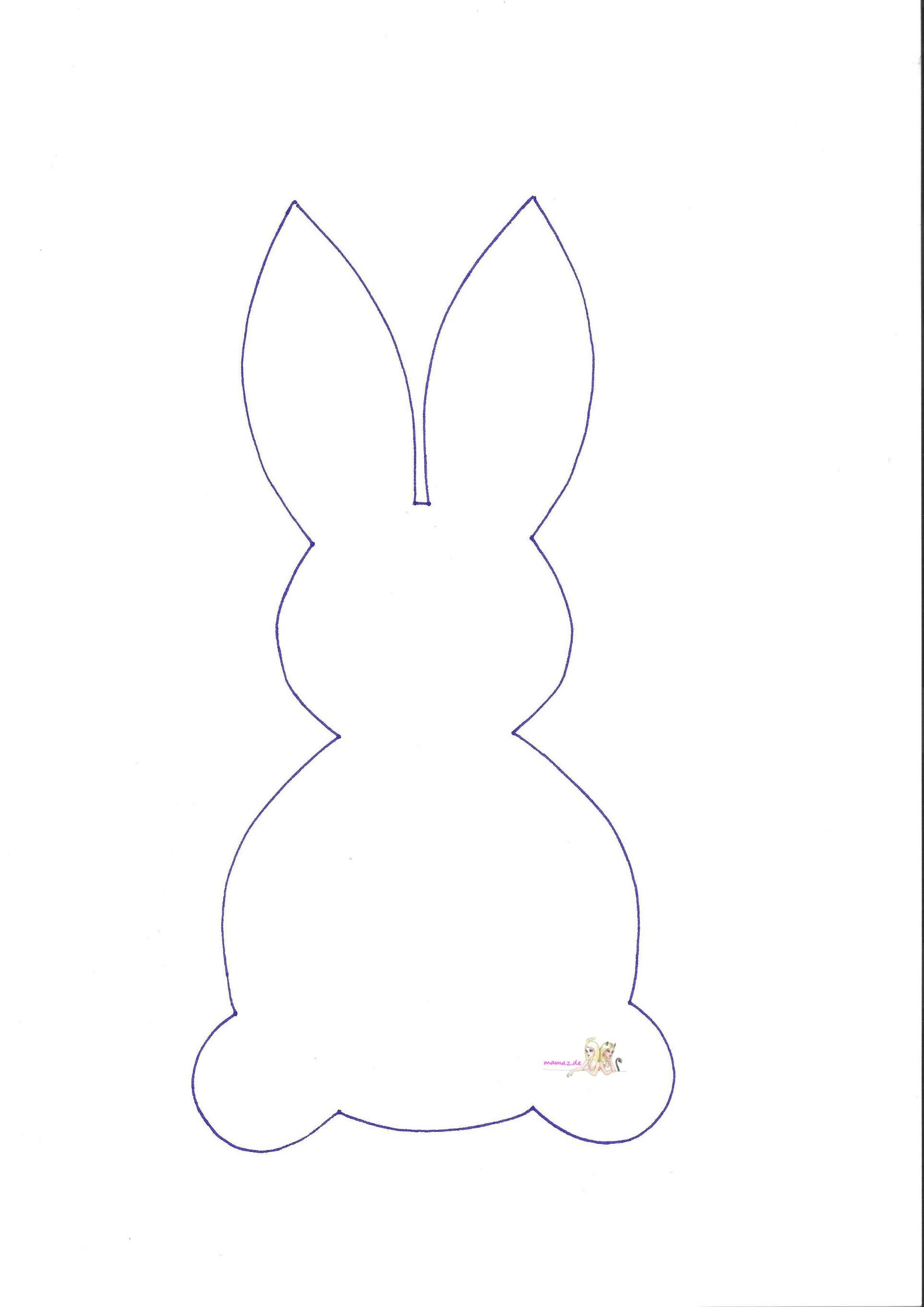 Hasen-Girlande basteln mit Kindern inkl. Osterhasen ...