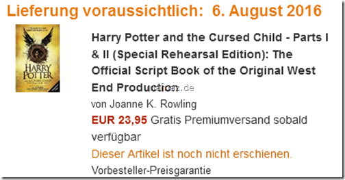 Harry Potter Band 8 vorbestellen