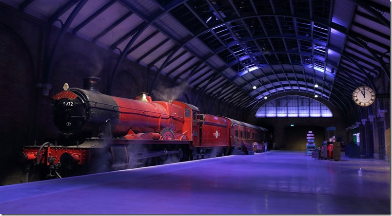 LONDON, ENGLAND - MARCH 03: The Making of Harry Potter offers a sneak peek of its new permanent featuring the original Hogwarts Express and recreation of Platform 9 3⁄4. The new expansion will be open to the public from Thursday 19th March at Warner Bros Studios on March 3, 2015 in London, England. (Photo by Mike Marsland/WireImage)