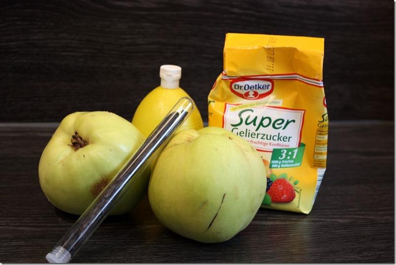 Quitten Marmelade Zutaten