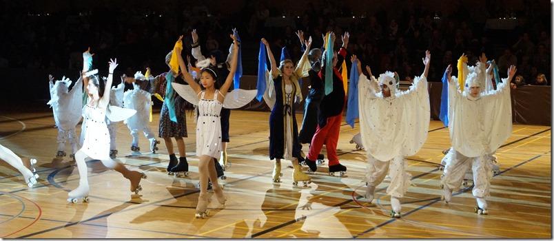 Schneekönigin Rollschuh Show Finale
