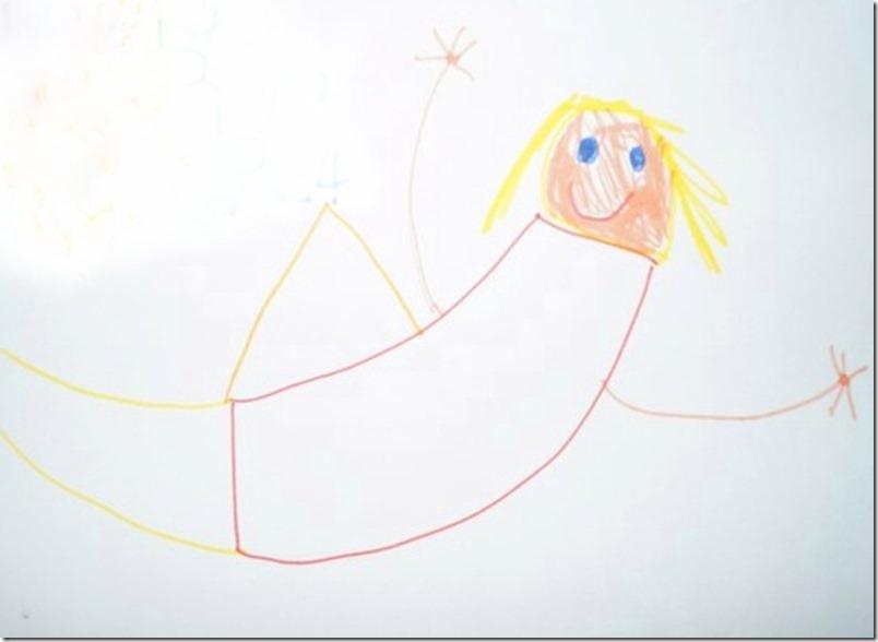 Christkind Engel gemalt