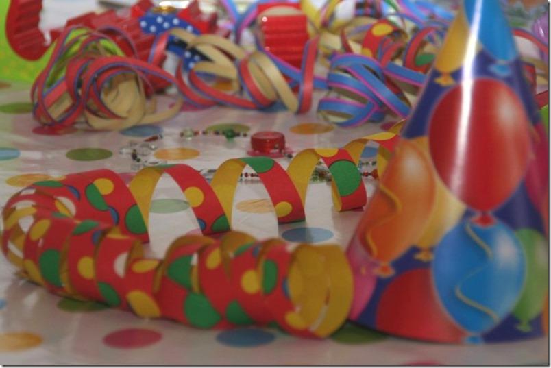 Geburtstag Luftschlangen