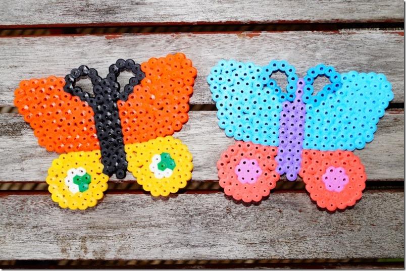 Schmetterlinge aus Bügelperlen - butterfly beads