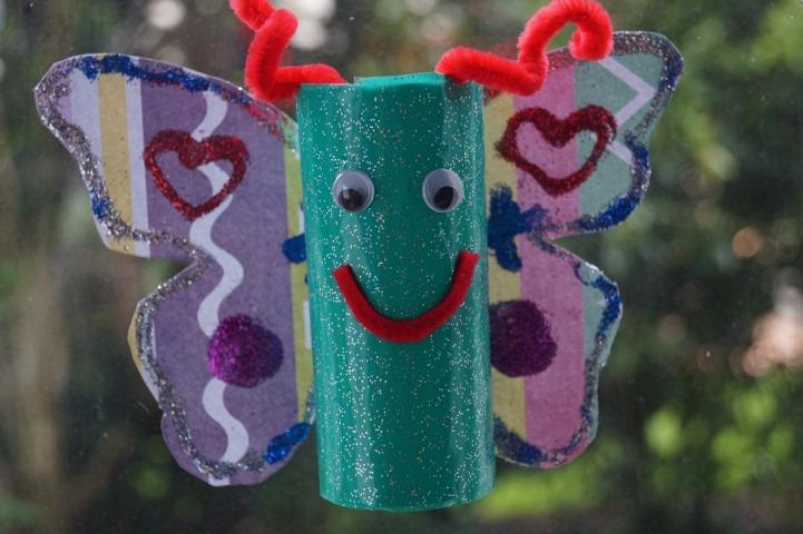 Bastelanleitung Schmetterlinge Basteln Aus Klorollen Mamaz