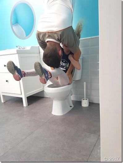 Badezimmer bei umgedrehtes Haus Wertheim