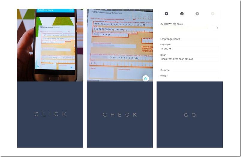 Fotoüberweisung Gini App