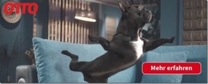 Werbevideo: Bulldogge Oskar tanzt sich durch das OTTO Shopping Festival