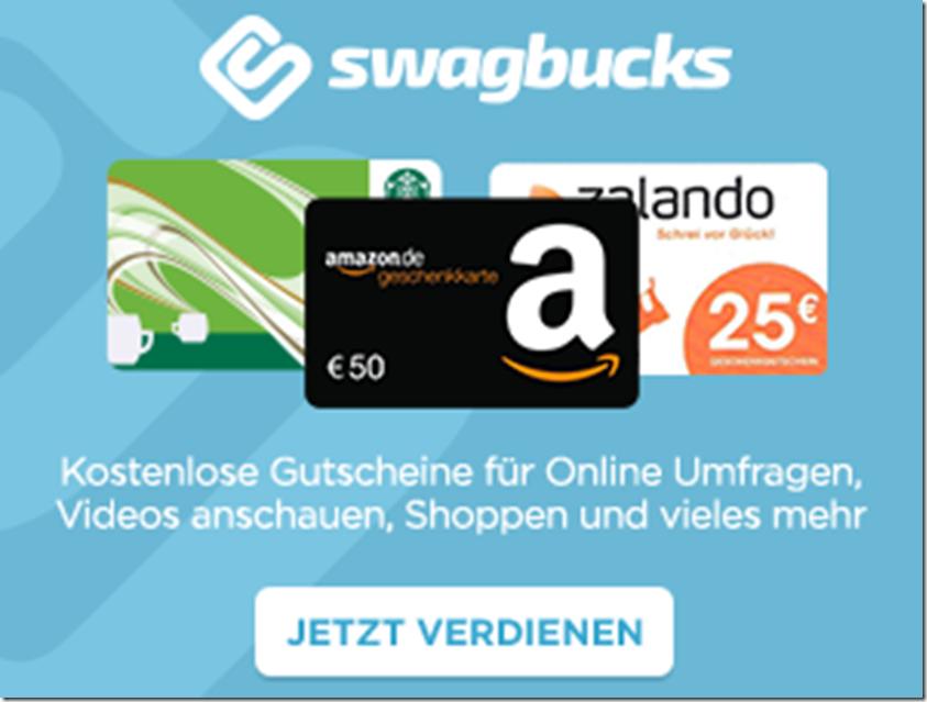 Swagbucks Deutschland Cashback